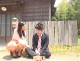 Beautiful Asian stunner Yuri Shirai seduces a guy and has steaming sex
