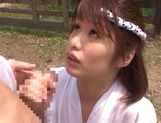 Horny Asian babe Nanami Kawakami sucks and gets fucked outdoors picture 14