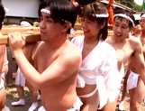 Horny Asian babe Nanami Kawakami sucks and gets fucked outdoors