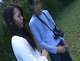 Japanese AV model gets banged outdoors by horny photographer picture 10