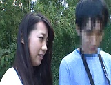 Japanese AV model gets banged outdoors by horny photographer picture 11