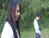 Japanese AV model gets banged outdoors by horny photographer picture 2