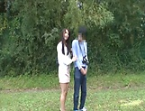 Japanese AV model gets banged outdoors by horny photographer picture 3