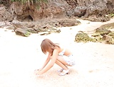 Ayu Sakurai gets rammed wildly outdoors