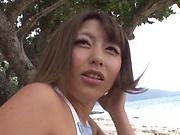 Ayu Sakurai gets rammed wildly outdoors