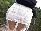 Up-skirt view of cute Asian queen Takashima Heki