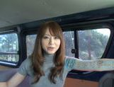 Playful AV babe Akiho Yoshizawa fingered in a public place