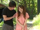 Sexy milf Hayama Hitomi ravaged outdoors picture 3