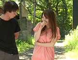 Sexy milf Hayama Hitomi ravaged outdoors picture 4