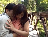 Hot Miyabe Suzuka pleases her man outdoor