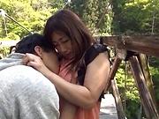 Hot Miyabe Suzuka pleases her man outdoor