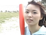Outdoor sex adventure for busty Asian teen Hiraru Koto picture 13