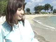 Outdoor sex adventure for busty Asian teen Hiraru Koto