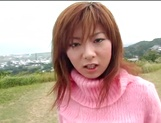 Busty Asian milf Aki Katase gets fucked in superb outdoor session picture 1