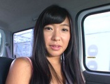 Busty Asian babe Nana Ogura in amazing car sex picture 2
