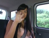 Busty Asian babe Nana Ogura in amazing car sex picture 5