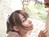 Gorgeous Hasegawa Rui enjoys hot outdoor sex picture 4