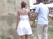 Gorgeous Hasegawa Rui enjoys hot outdoor sex