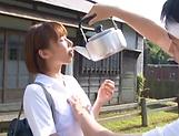 Hotaka Yuka sucking one large dong properly