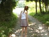 Sexy outdoor masturbation with Asian milf Aki Katase picture 11
