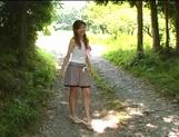Sexy outdoor masturbation with Asian milf Aki Katase picture 12