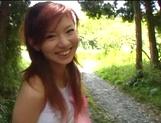 Sexy outdoor masturbation with Asian milf Aki Katase picture 13
