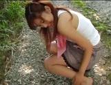 Sexy outdoor masturbation with Asian milf Aki Katase picture 14