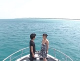 Naughty Ryoko Murakami bonked hard on a boat