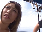 Incredible Ayu Sakurai gives amazing head picture 2