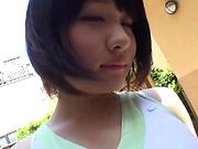 Busty Haruki Karen gets kinky in an outdoor action