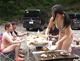Lovely Amateur Asian babe gets banged outdoor