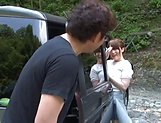 Kanno Sayuki enjoys a steamy hot outdoor sex