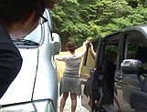 Kanno Sayuki enjoys a steamy hot outdoor sex picture 8