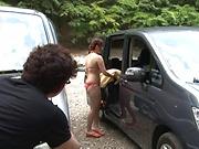Kanno Sayuki enjoys a steamy hot outdoor sex