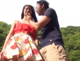 Naughty Asian teen gets hardcore fuck when outdoors picture 15