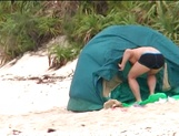 Beautiful milf Aki Katase gets fucked on the beach picture 4