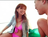 Beautiful milf Aki Katase gets fucked on the beach picture 5