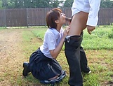 Hotaka Yuka shows her super blowjob skills