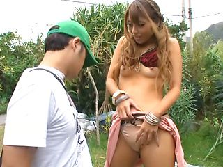 Ayu Sakurai goes nasty in raw outdoor fuck adventure