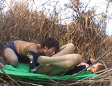 Great fuck in nature with Asian babe Akane Mochida picture 14