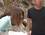 Ayu Sakurai gets her twat rammed outdoors
