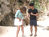 Ayu Sakurai gets her twat rammed outdoors picture 6