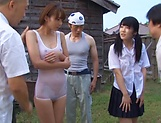Hotaka Yuka featured in a steamy outdoor sex picture 12