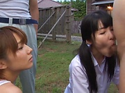 Hotaka Yuka featured in a steamy outdoor sex