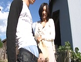 Lustful Japanses gets a doggy slaming outdoors picture 13