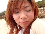 Sensual pov beach fuck with curvy Asian milf Aki Katase