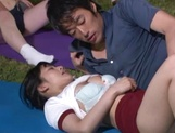 Hot sporty Japanese teen gals have steaming sex on the playground picture 11