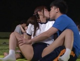 Hot sporty Japanese teen gals have steaming sex on the playground picture 4