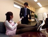 Japanese AV Model in sexy pantyhose enjoys position 69