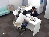Wild office action as hot diva banged deep